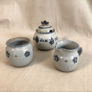 Vintage Stoneware Breakfast Set